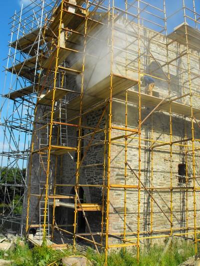 Cornwall landscaping, leak detection, groundworks, sandblasting